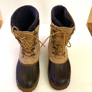 LL Bean Maiine Hunting Boots with lining booties